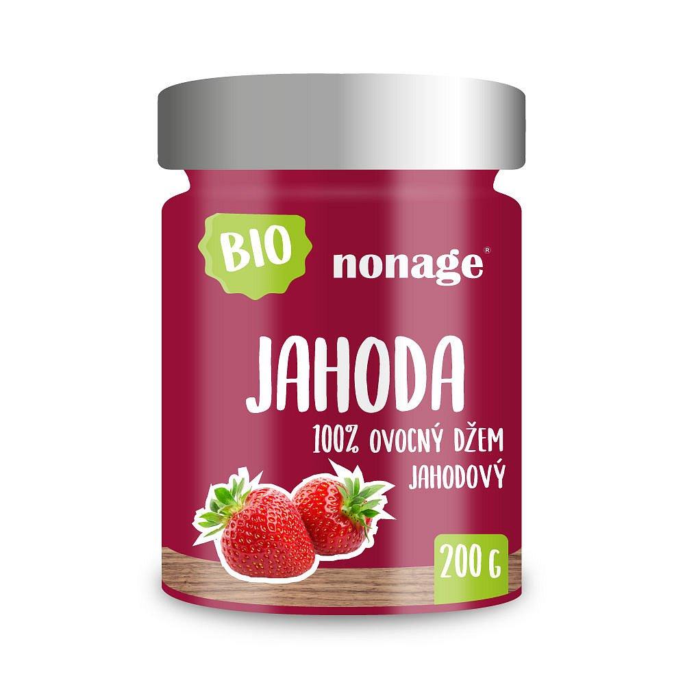 NONAGE Jahodový ovocný džem premium BIO 200 g
