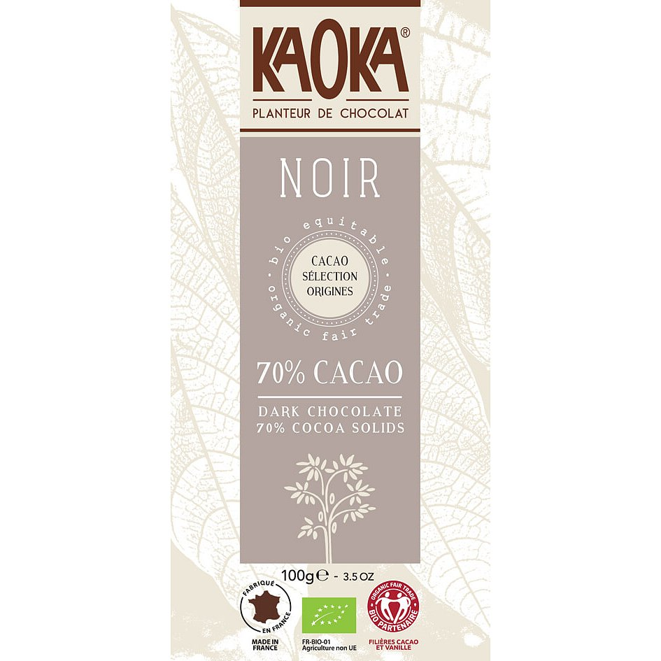Kaoka Bio hořká čokoláda 70% 100g