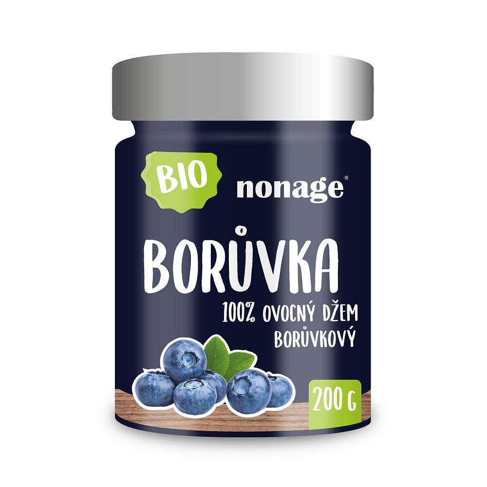 NONAGE Borůvkový ovocný džem premium BIO 200 g