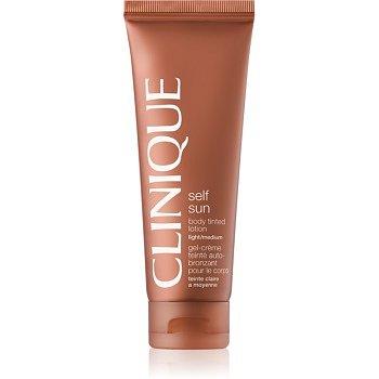 Clinique Self Sun samoopalovací tělové mléko odstín Light/Medium 125 ml