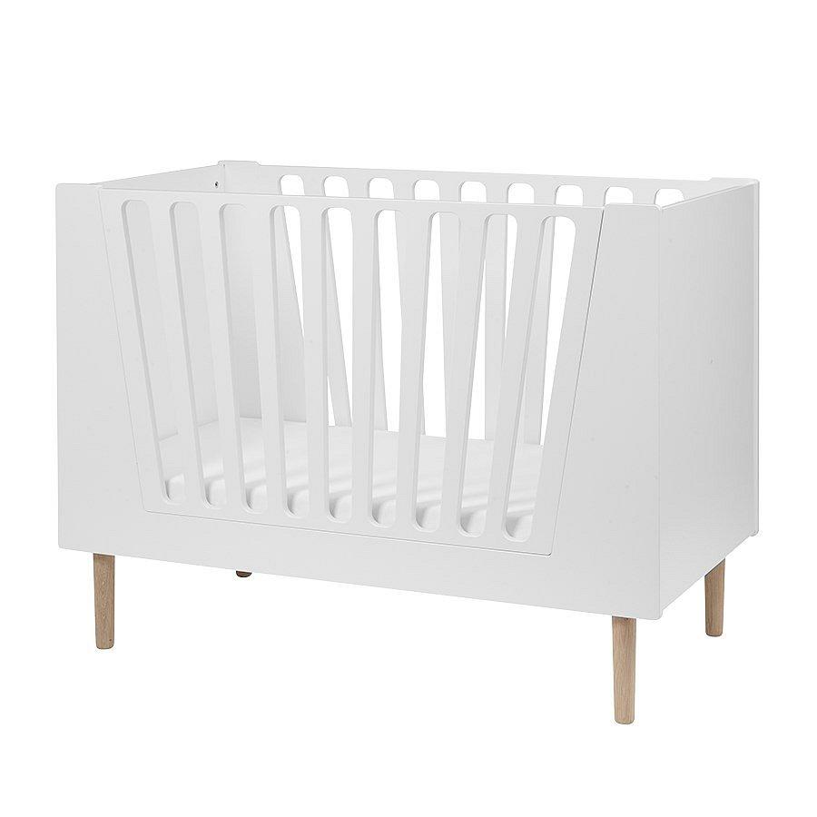 DONE BY DEER Dětská postýlka 60 x 120 cm - bílá