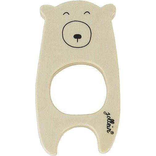 JOLLEIN Dřevěná hračka, kroužek do ručičky - Bear