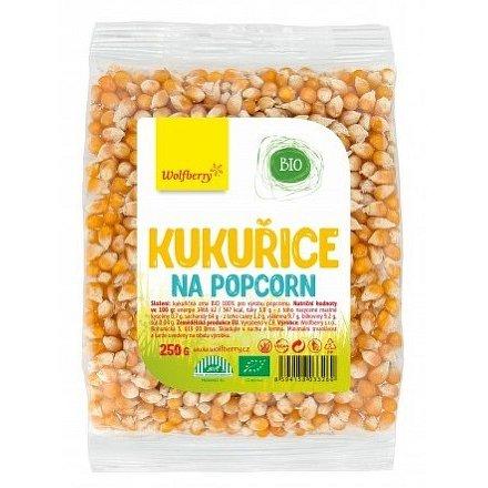 Kukuřice na popcorn BIO 250 g Wolfberry*