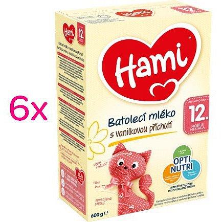 Hami 12+ Vanilka 6x600g