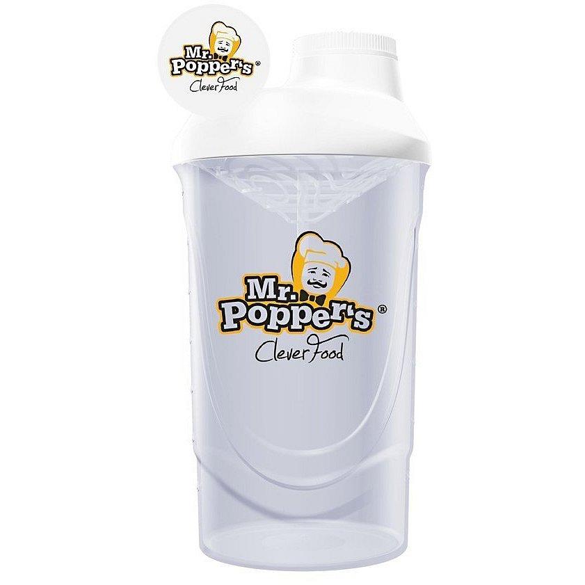 AMIX Shaker Mr.Poppers, bílá, 700ml