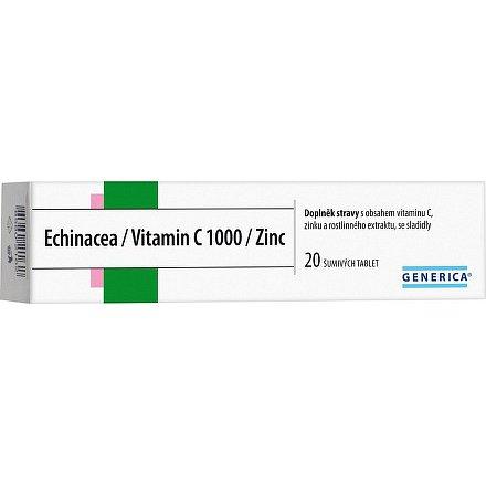 Echinacea/Vitamin C 1000 /Zinc Generica šumivé tablety 20