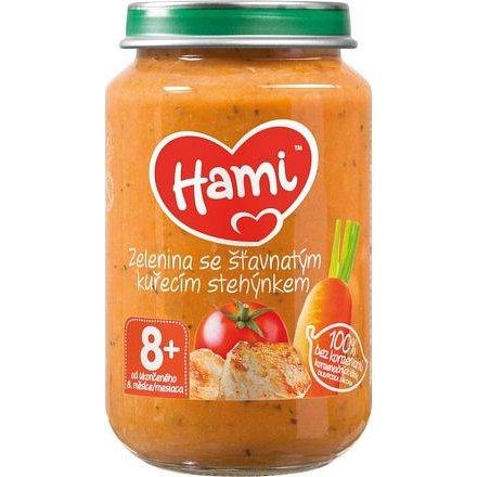 Hami příkrm zelenina se šťav.kuř.stehýnkem 200g 8M