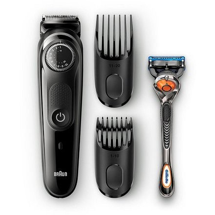 Braun BT5042 Zastřihovač vousů se 2 hřebeny a holicím strojkem Gillette Fusion 5 ProGlide