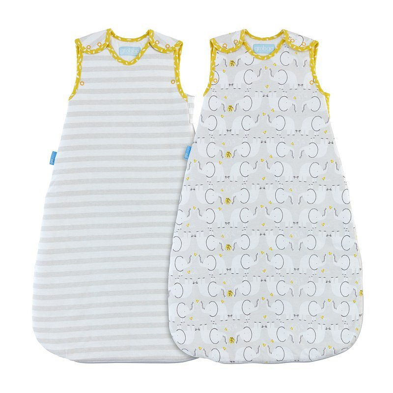 GRO Vak spací Elephant Love - Wash and Wear - Twin pack 2,5 Tog 18-36m