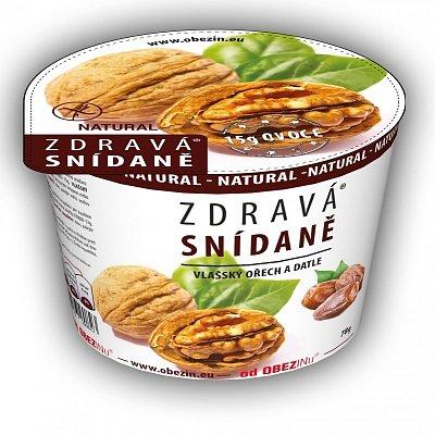 Zdravá snídaně od Obezinu vlaš. ořech a datle 78g