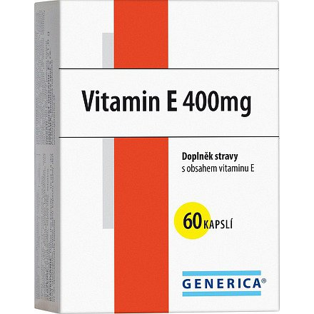 Vitamin E 400 mg Generica orální tobolky 60