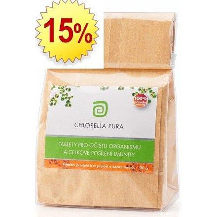 Chlorella centrum CHLORELLA PURA 90 g - sáček + 15% chlorelly zdarma navíc