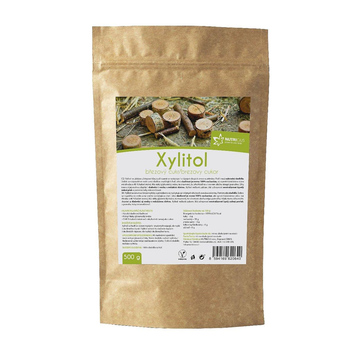 Nutricius Xylitol březový cukr 500 g