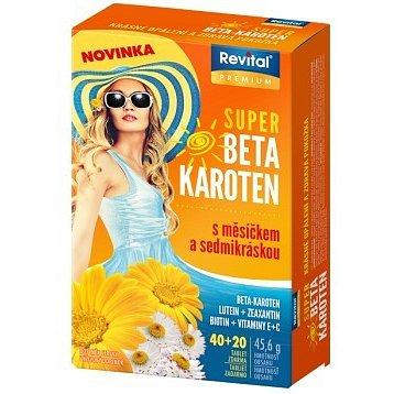 Revital Super Beta-karoten + měsíček + sedmikráska tbl.40+20