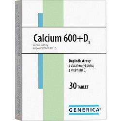 Calcium 600+D3 Generica tbl. 30