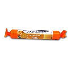 Intact hroznový cukr s vitamín C pomeranč 40 g (rolička