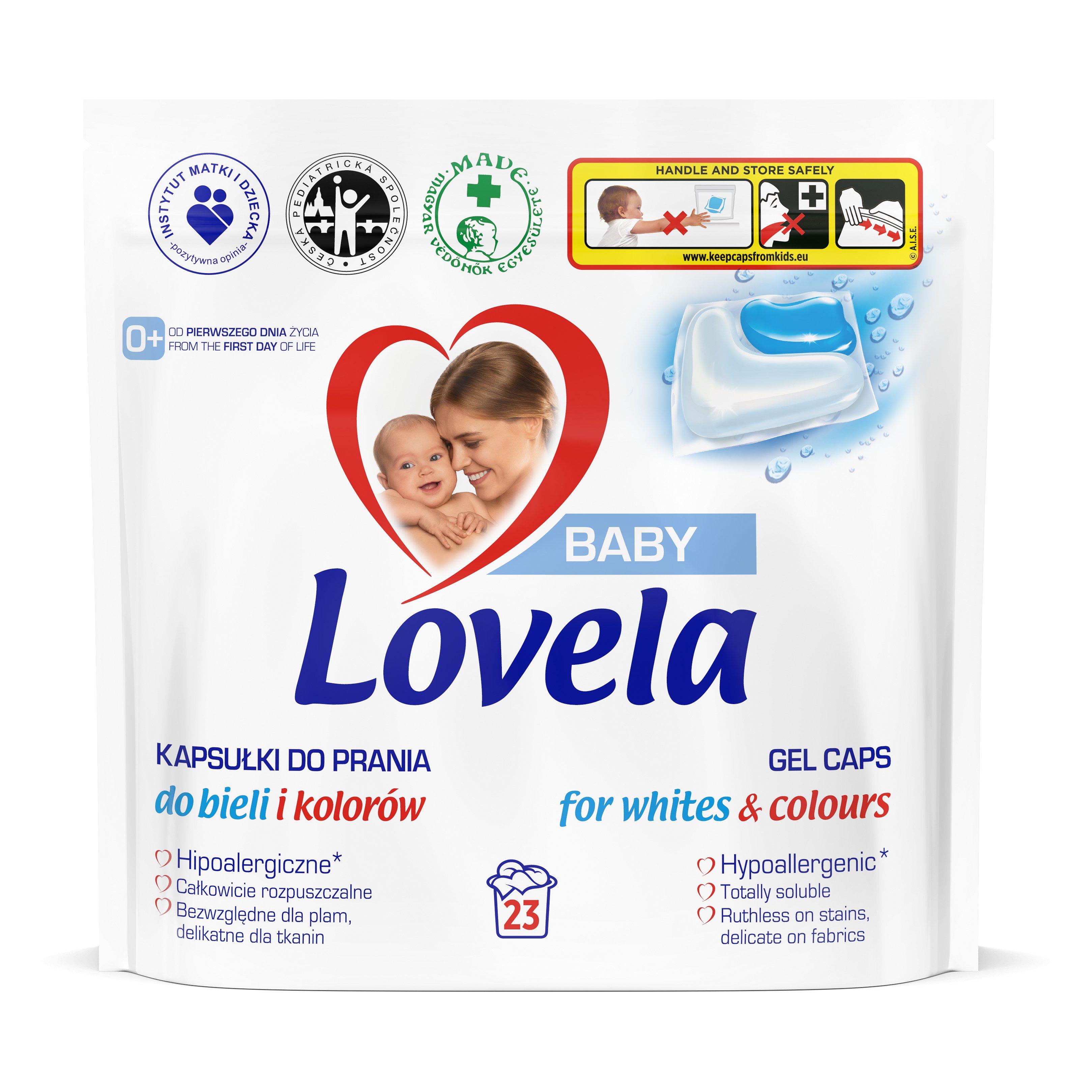 LOVELA Baby gelové kapsle na praní 23 ks
