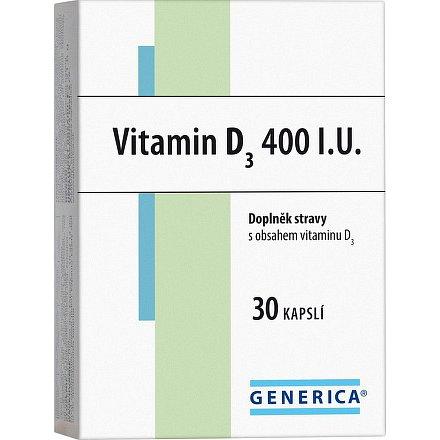 Vitamin D 3  400 I.U. Generica orální tobolky 30