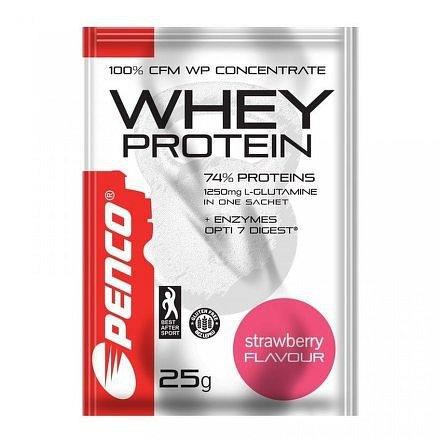 PENCO Proteinový nápoj WHEY PROTEIN sáček Jahoda