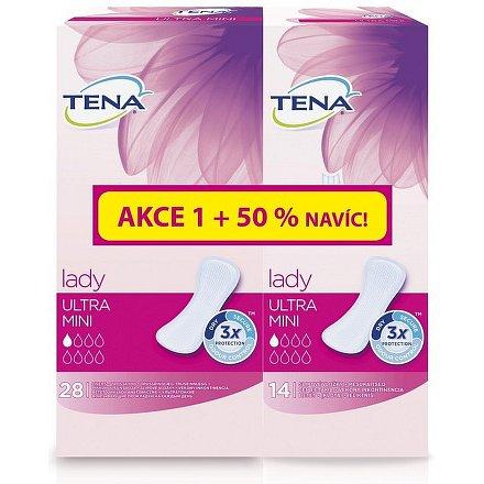 Inkontinenční vložky TENA Lady Ultra Mini 28ks + 50% navíc