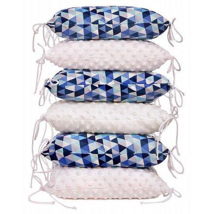 Polštářkový mantinel, blue triangles