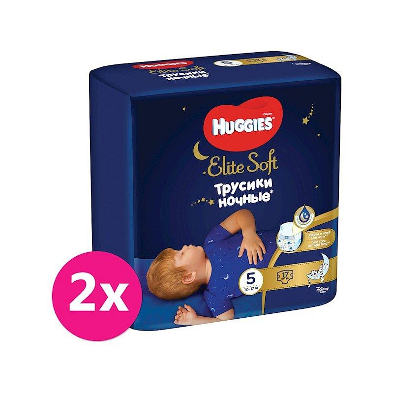2x HUGGIES® Elite Soft Pants OVN jednorázové pleny vel. 5, 17 ks