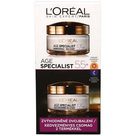 L'Oréal Paris Age Specialist 55+ denní a noční krém proti vráskám 2 x 50 ml dárková sada