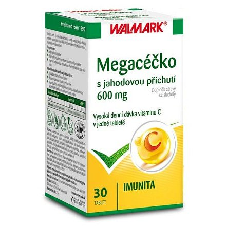 Walmark Megacéčko jahoda 600mg tbl.30