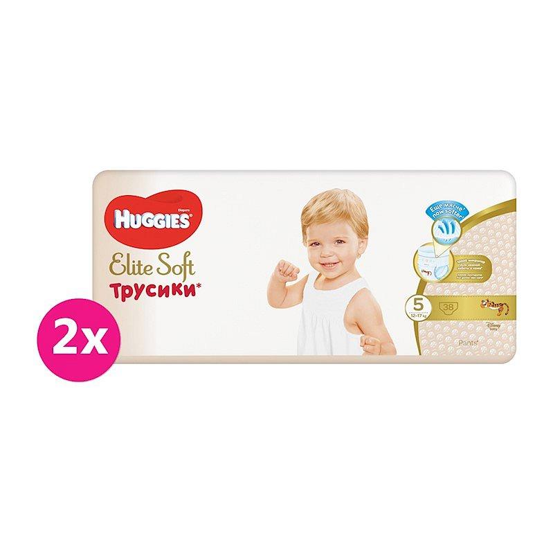 2x HUGGIES® Elite Soft Pants jednorázové pleny vel. 5, 38 ks