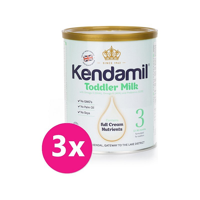 3x KENDAMIL Batolecí mléko 3 (400 g) DHA+