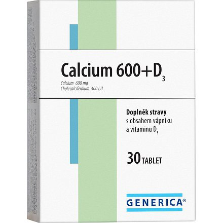 Calcium 600 +D 3 Generica tablety 30