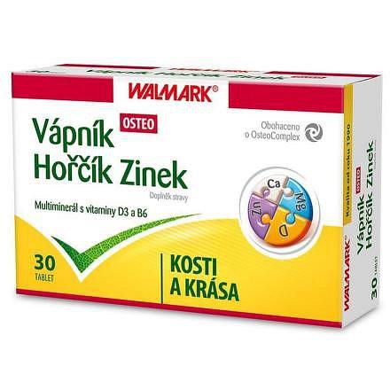 Walmark Vápník, Horčík, Zinek - Osteo tbl. 30