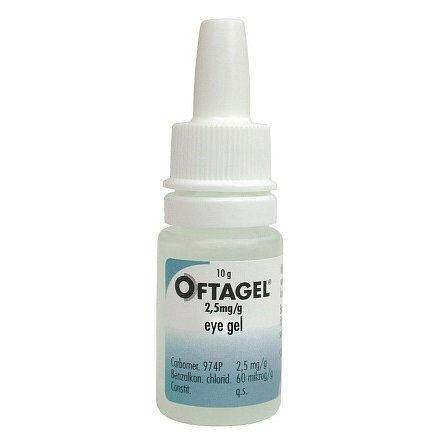 Oftagel gel oční 1 x 10 g/ 25 mg