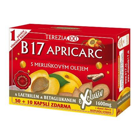 Terezia B17 APRICARC s meruňkovým olejem orální 50+10 kapslí