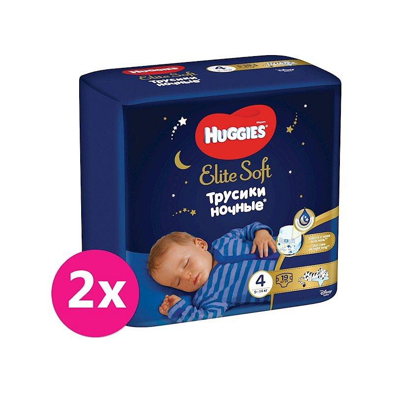 2x HUGGIES® Elite Soft Pants OVN jednorázové pleny vel. 4, 19 ks