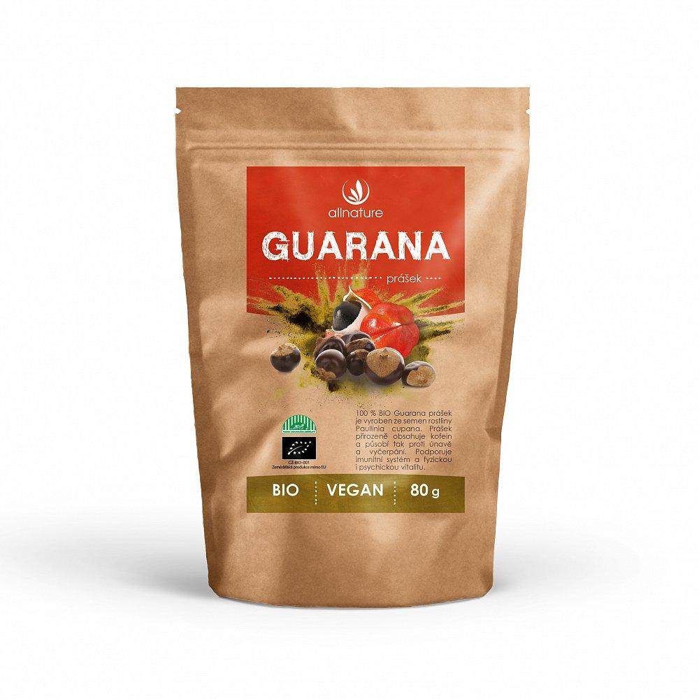 ALLNATURE Guarana prášek Bio 80 g