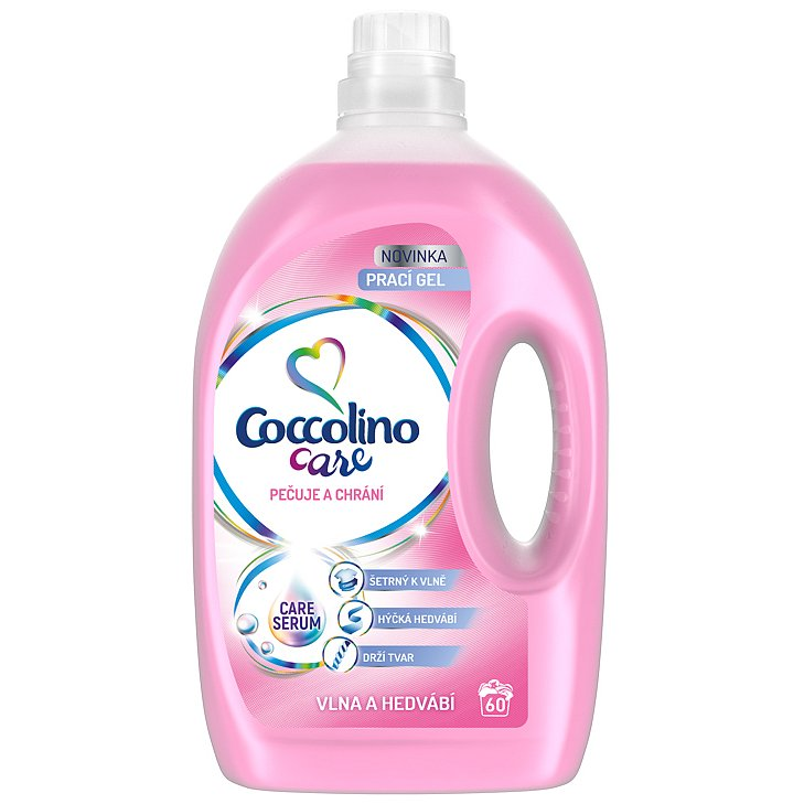 COCCOLINO Care Silk & Wool 2,4l (60 dávek) - prací gel