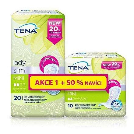 Inkontinenční vložky TENA Lady Slim Mini 20ks +50% navíc