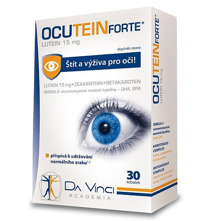 Ocutein FORTE Lutein 15 mg Da Vinci Academia tobolky 30