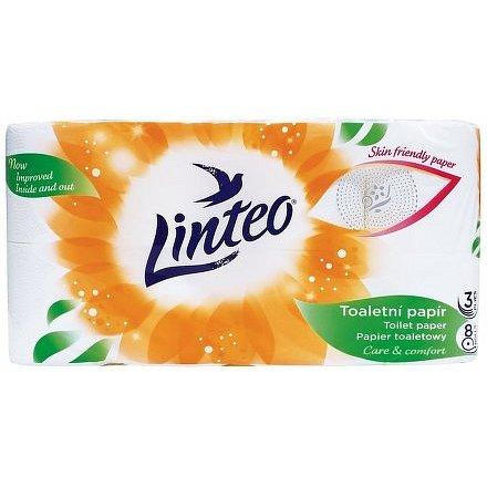Toaletní papír LINTEO 8 rolí, bílý, 3-vrstvý