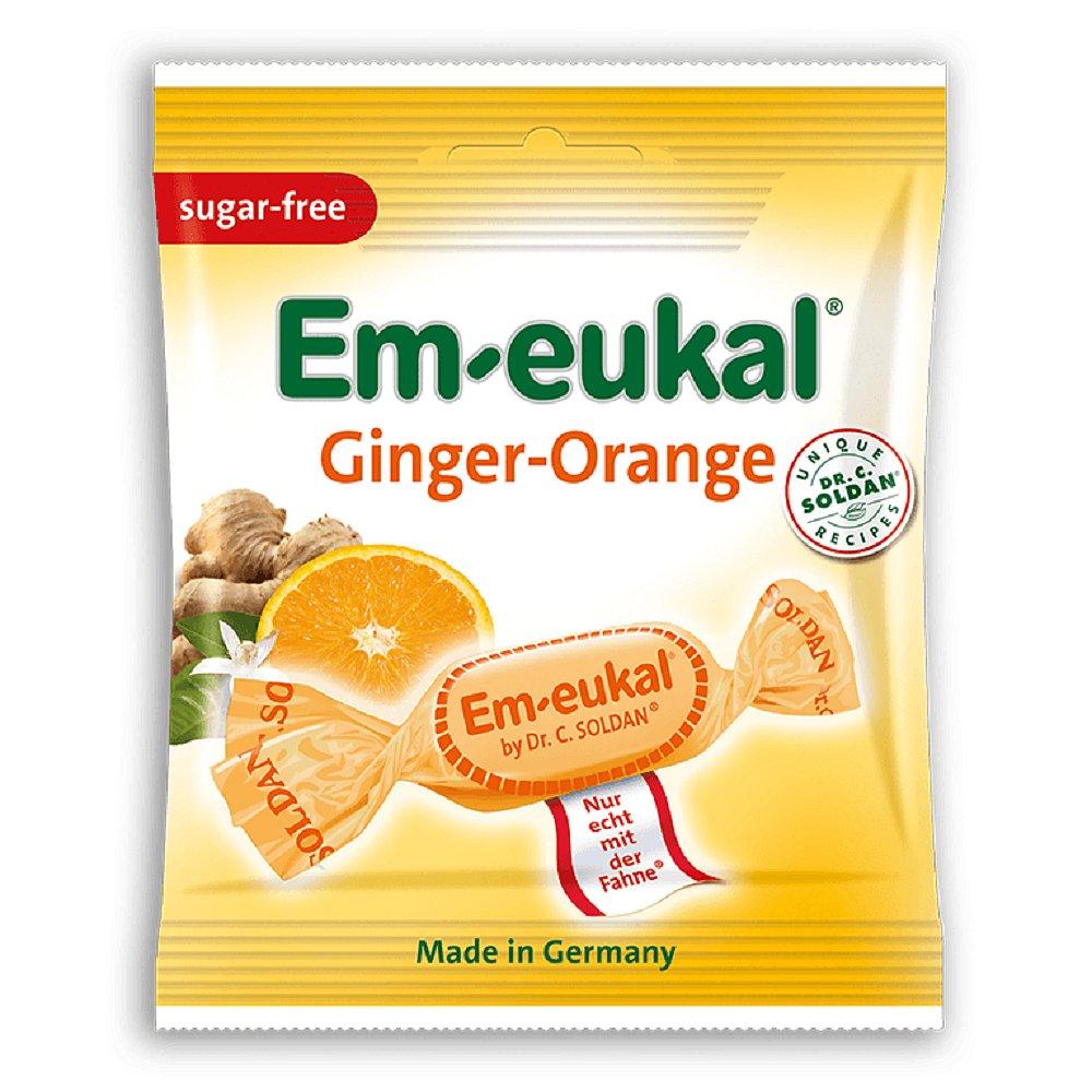 EM-EUKAL pastilky zázvor-pomeranč s vit. bez cukru 50g