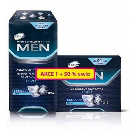 Inkontinenční vložky TENA Men Level 1 24ks + 50% navíc