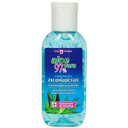 VIVAPHARM Zklidňující gel po opalování Aloe Vera 97%, cestovní balení 50ml