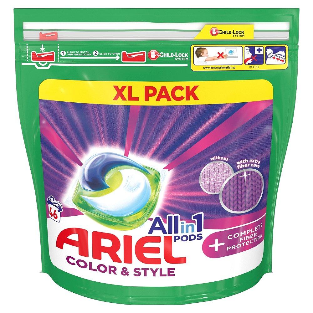 Ariel All-In-1 PODs + Technologie ochrany vláken, kapsle na praní 46 ks