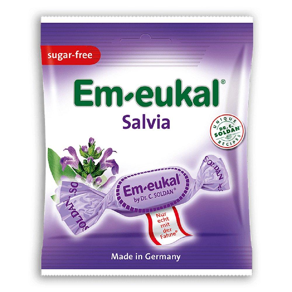 EM-EUKAL Šalvějové pastilky s vit.C bez cukru 50g