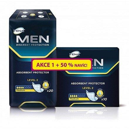 Inkontinenční vložky TENA Men Level 2 20ks + 50% navíc