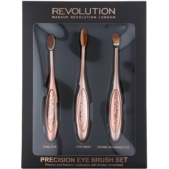 Makeup Revolution Pro Precision Brush sada štětců na oči  3 ks