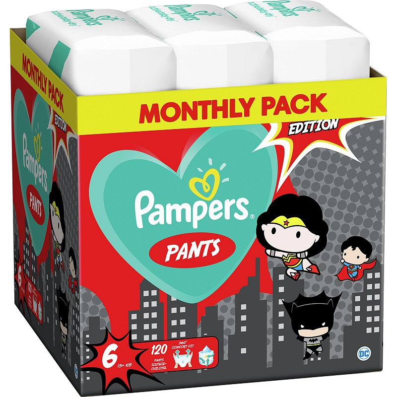 2x PAMPERS Plenkové kalhotky Pants vel. 6, 60 ks, 15 kg+ Warner Bros LTD