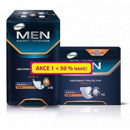Inkontinenční vložky TENA Men Level 3 16ks + 50% navíc