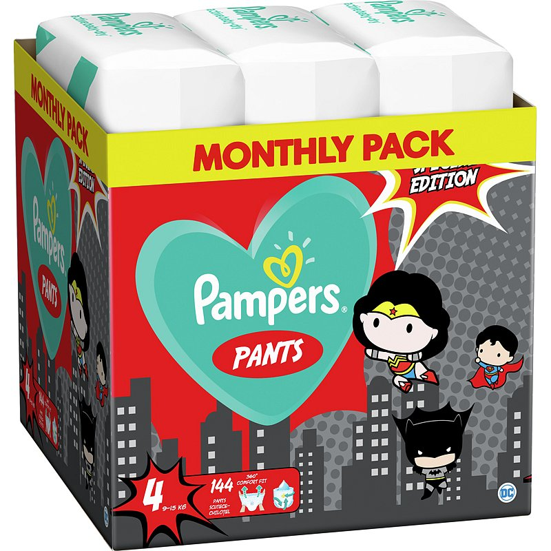 2x PAMPERS Plenkové kalhotky Pants vel. 4, 72 ks, 9-15 kg Warner Bros LTD